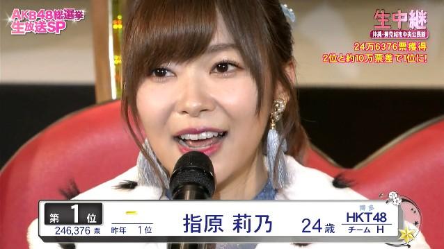 2017年の総選挙で3連覇を成し遂げたHKT48の指原莉乃