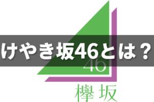 けやき坂46(ひらがなけやき)とは?