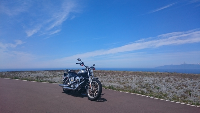 海と空とバイク