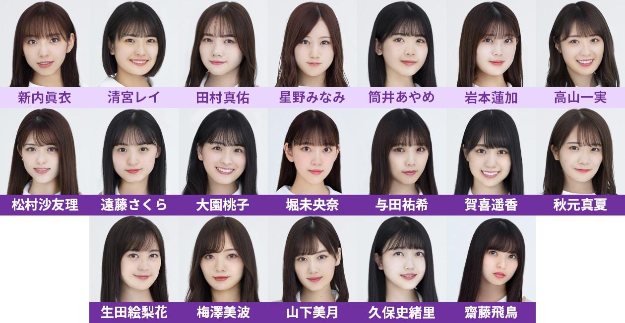 乃木坂46の26thシングル選抜フォーメーション
